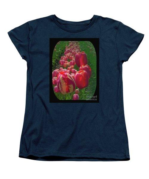 Tulip Row Women's T-Shirt (Standard Cut) by Ansel Price
