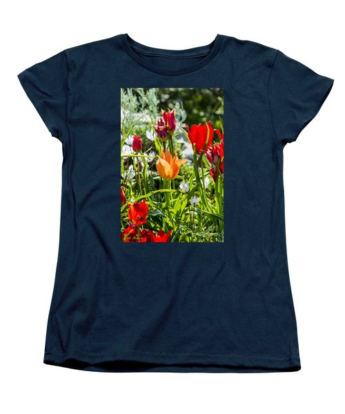 Women's T-Shirt (Standard Cut) featuring the photograph Tulip - The Orange One by Arik Baltinester