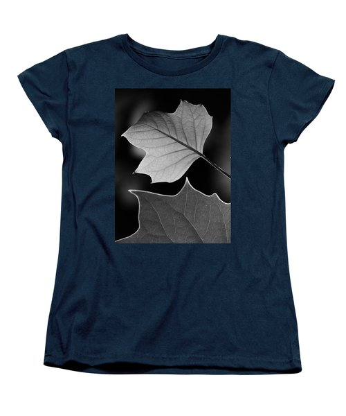 Women's T-Shirt (Standard Cut) featuring the photograph Tulip Tree Leaves Competing For Light by Jane Ford