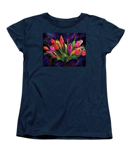 Tulips Women's T-Shirt (Standard Cut) by DC Langer