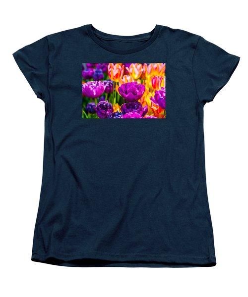 Women's T-Shirt (Standard Cut) featuring the photograph Tulips Enchanting 42 by Alexander Senin