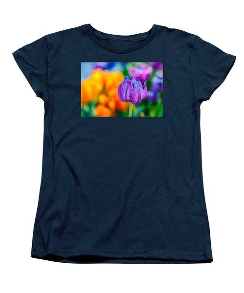 Women's T-Shirt (Standard Cut) featuring the photograph Tulips Enchanting 46 by Alexander Senin