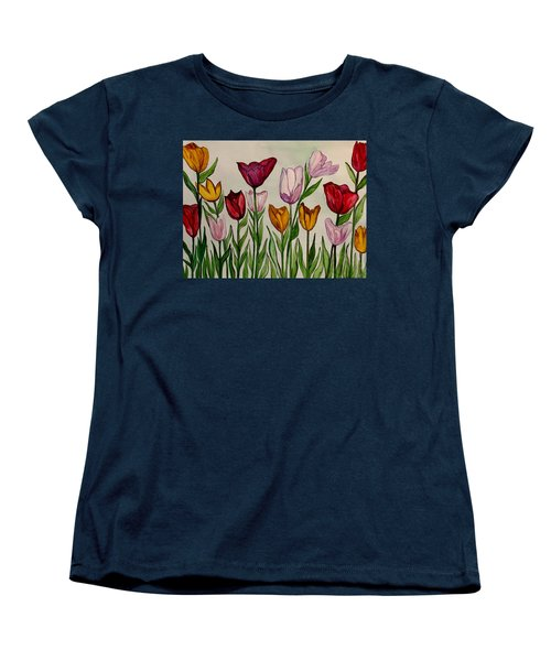 Tulips Women's T-Shirt (Standard Cut) by Lisa Aerts