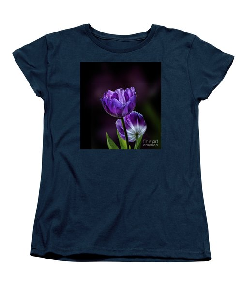 Tulips Women's T-Shirt (Standard Cut) by Shirley Mangini