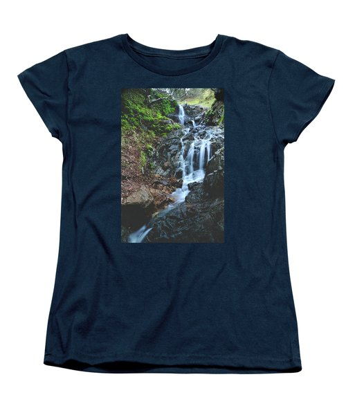 Women's T-Shirt (Standard Cut) featuring the photograph Tumbling Down by Laurie Search