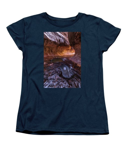 Women's T-Shirt (Standard Cut) featuring the photograph Tunnel Of Ice And Light by Dustin LeFevre