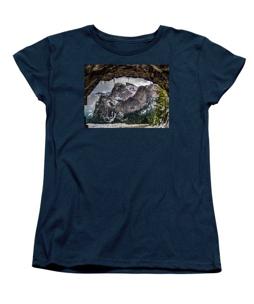 Women's T-Shirt (Standard Cut) featuring the photograph Tunnel View From The Tunnel by Bill Gallagher