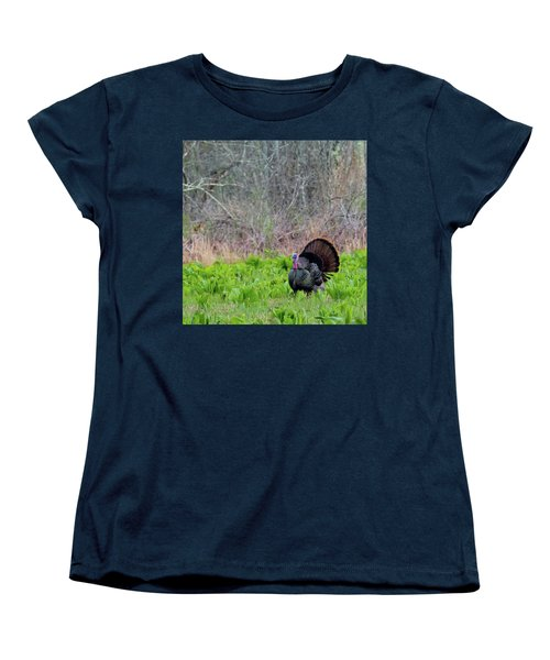 Women's T-Shirt (Standard Cut) featuring the photograph Turkey And Cabbage Square by Bill Wakeley