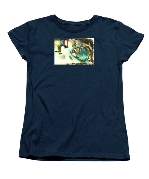 Women's T-Shirt (Standard Cut) featuring the digital art Turquoise Embrace by Andrea Barbieri