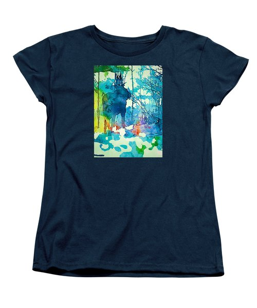 Turquoise Moose Women's T-Shirt (Standard Cut) by Jan Amiss Photography