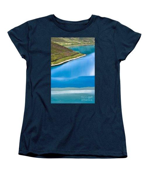 Turquoise Water Women's T-Shirt (Standard Cut) by Hitendra SINKAR