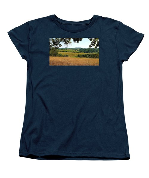 Women's T-Shirt (Standard Cut) featuring the photograph Tuscan Country by Valentino Visentini