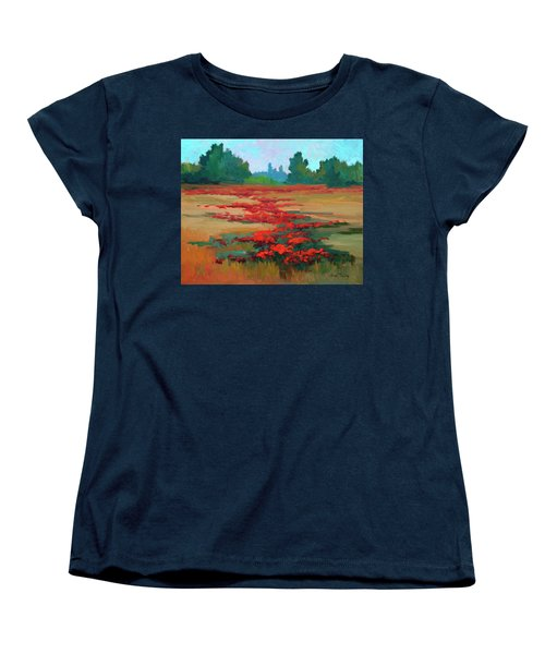 Tuscany Poppy Field Women's T-Shirt (Standard Cut) by Diane McClary