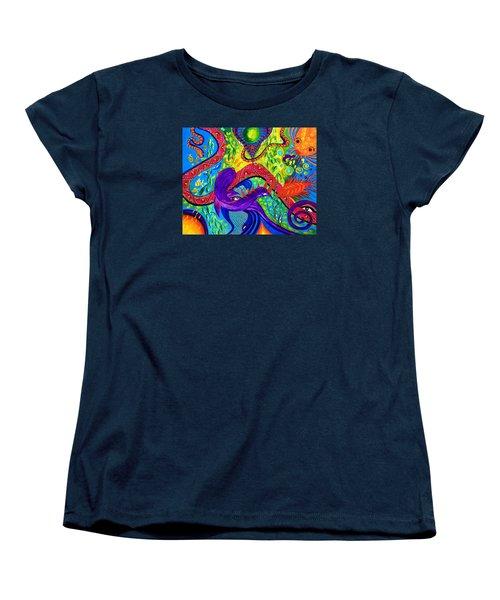 Undersea Adventure Women's T-Shirt (Standard Cut) by Marina Petro