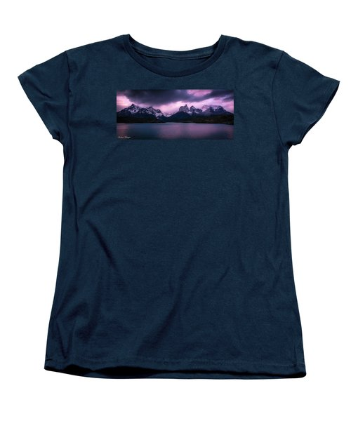 Twilight Over The Lake Women's T-Shirt (Standard Cut) by Andrew Matwijec