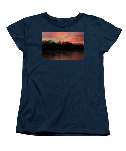 Women's T-Shirt (Standard Cut) featuring the photograph Twilight On The River by Chris Berry