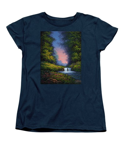 Women's T-Shirt (Standard Cut) featuring the painting Twilight Whisper by Kyle Wood