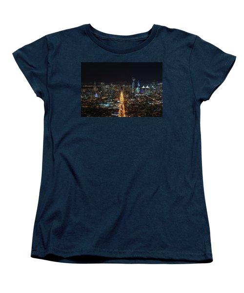 Twin Peaks Women's T-Shirt (Standard Cut) by Alpha Wanderlust