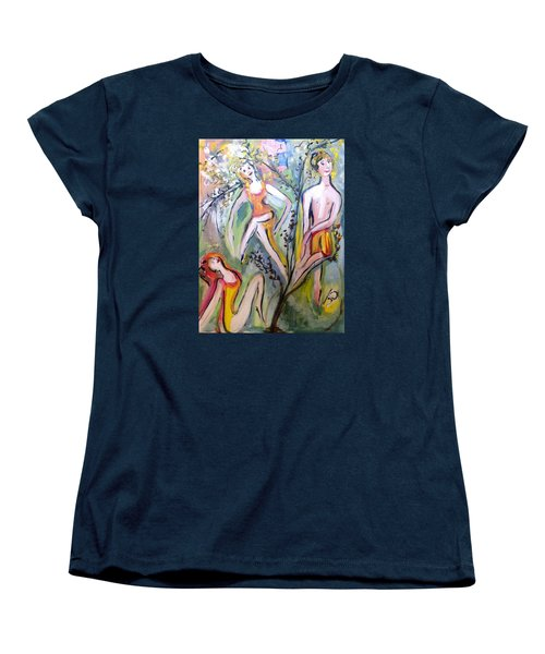 Twists And Turns Women's T-Shirt (Standard Cut) by Judith Desrosiers