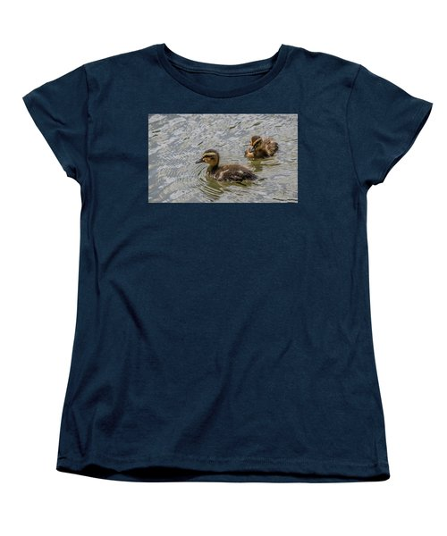 Women's T-Shirt (Standard Cut) featuring the photograph Two Baby Ducks by Ray Congrove