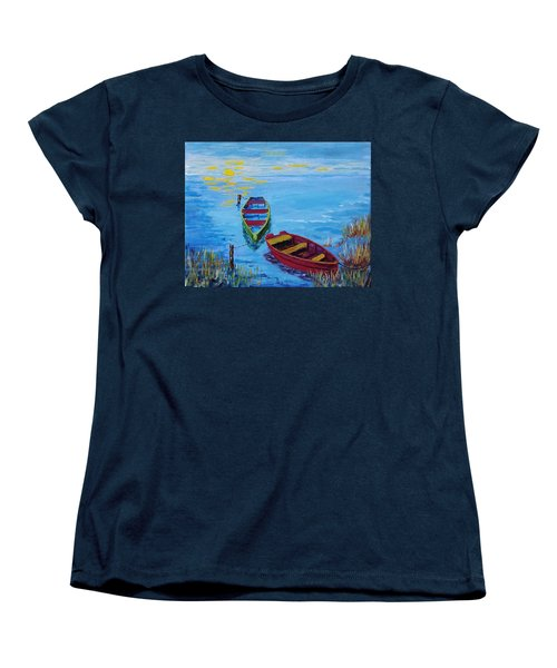 Two Boats Women's T-Shirt (Standard Cut) by Mike Caitham