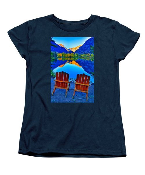 Two Chairs In Paradise Women's T-Shirt (Standard Cut) by Scott Mahon