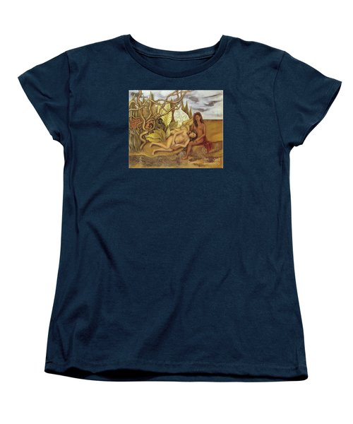 Two Nudes In The Forest Women's T-Shirt (Standard Cut) by Frida Kahlo