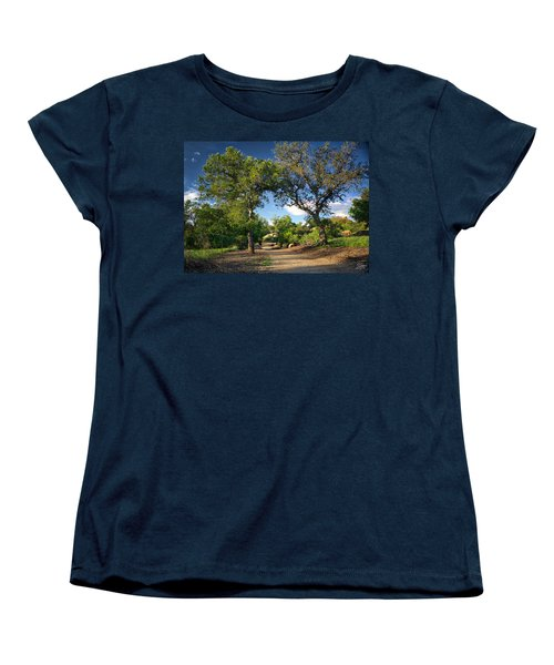 Two Old Oak Trees Women's T-Shirt (Standard Cut) by Endre Balogh