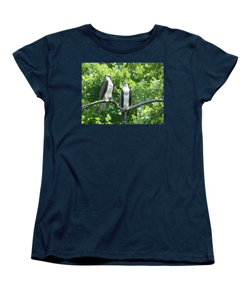 Two On A Limb - Osprey Women's T-Shirt (Standard Cut) by Donald C Morgan