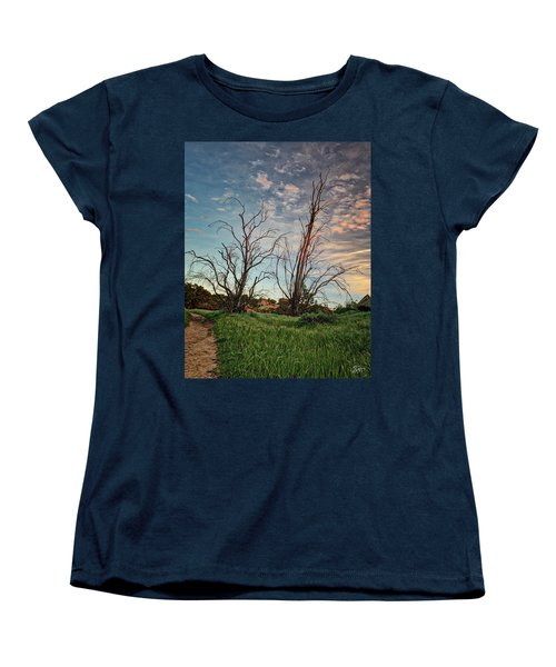 Two Sentinels Women's T-Shirt (Standard Cut) by Endre Balogh