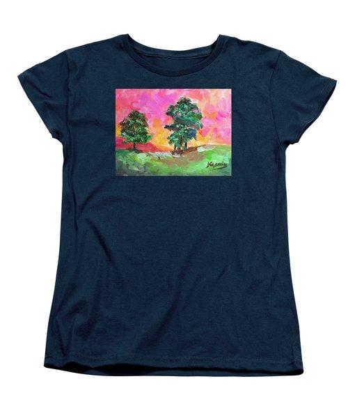 Two Trees Women's T-Shirt (Standard Cut) by Janet Garcia