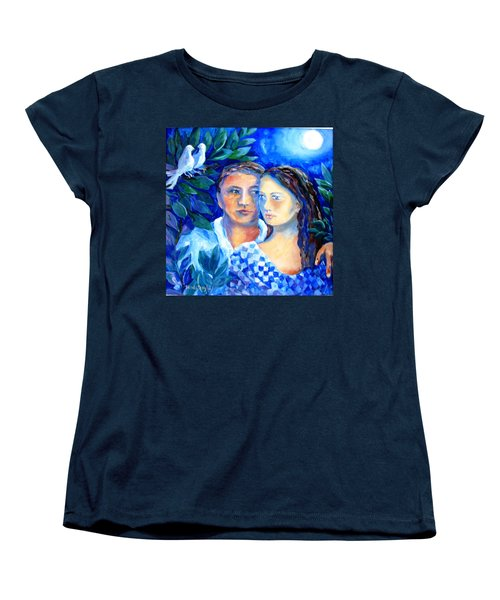 Two Turtle Doves  Women's T-Shirt (Standard Cut) by Trudi Doyle