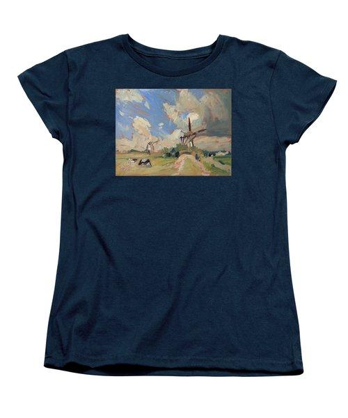 Two Windmills Women's T-Shirt (Standard Cut) by Nop Briex