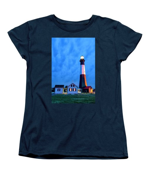 Women's T-Shirt (Standard Cut) featuring the photograph Tybee Island Lighthouse by Phyllis Peterson