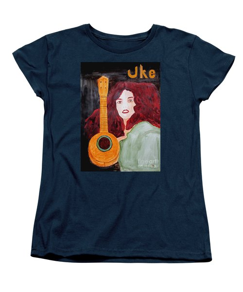 Women's T-Shirt (Standard Cut) featuring the painting Uke by Sandy McIntire