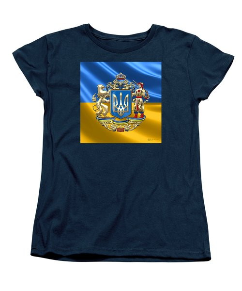 Ukraine - Greater Coat Of Arms  Women's T-Shirt (Standard Cut) by Serge Averbukh