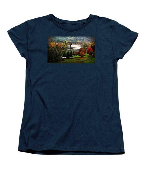Umpqua Bridge In The Fall Women's T-Shirt (Standard Cut) by Katie Wing Vigil