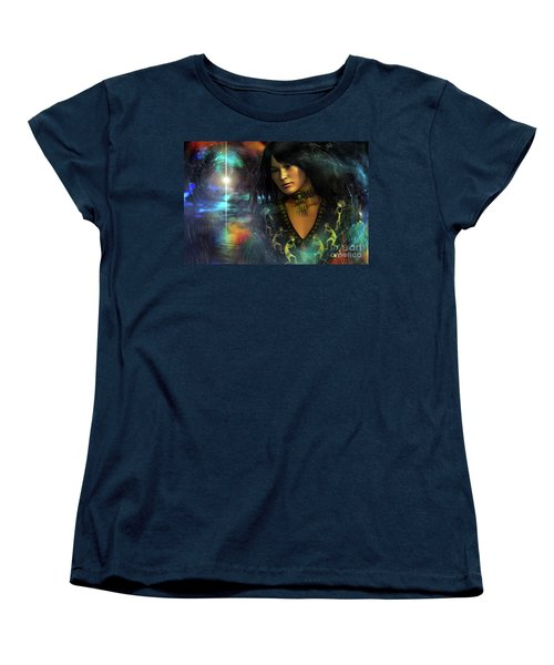 Women's T-Shirt (Standard Cut) featuring the digital art Una   ...   Remember by Shadowlea Is