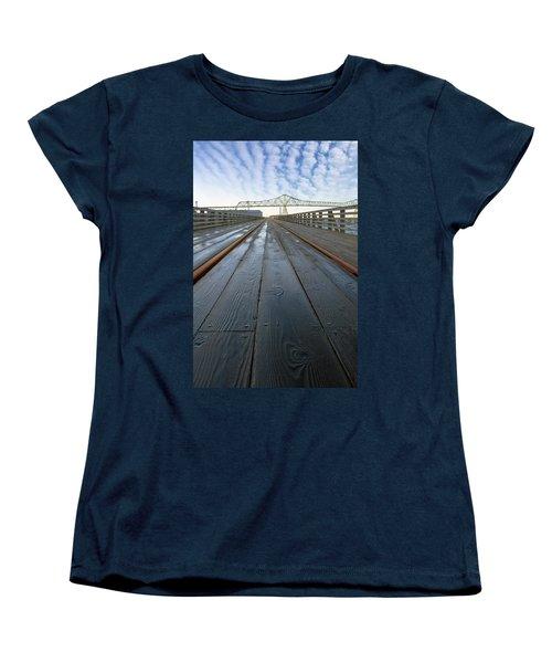 Under Astoria Megler Bridge On Riverwalk Women's T-Shirt (Standard Fit)