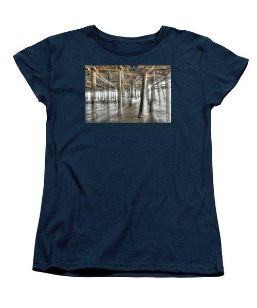 Women's T-Shirt (Standard Cut) featuring the photograph Under The Boardwalk Into The Light by David Zanzinger