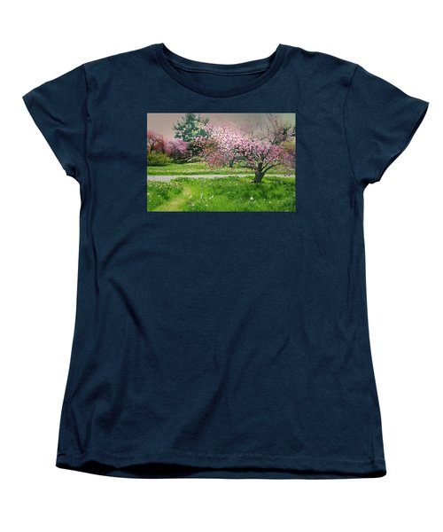 Women's T-Shirt (Standard Cut) featuring the photograph Under The Cherry Tree by Diana Angstadt