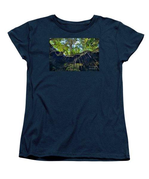 Women's T-Shirt (Standard Cut) featuring the photograph Underground by DJ Florek