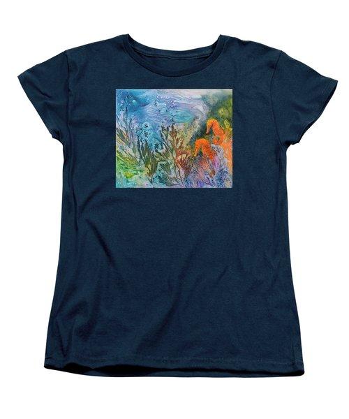 Undersea Garden Women's T-Shirt (Standard Cut) by Nancy Jolley