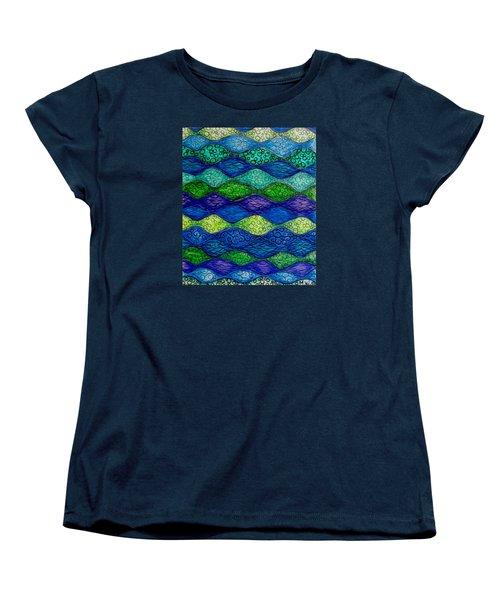 Underwater Abstract 1 Women's T-Shirt (Standard Cut) by Megan Walsh