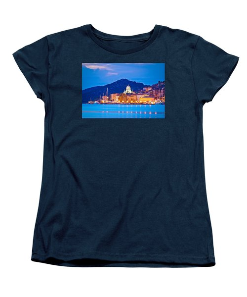 Unesco Town Of Sibenik Blue Hour View Women's T-Shirt (Standard Cut) by Brch Photography