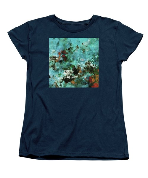 Women's T-Shirt (Standard Cut) featuring the painting Unique Abstract Art / Landscape Painting by Ayse Deniz