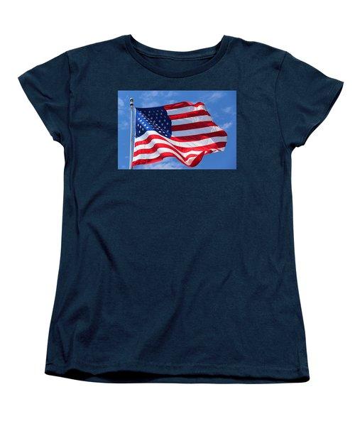 United States Flag Women's T-Shirt (Standard Cut) by Elizabeth Budd