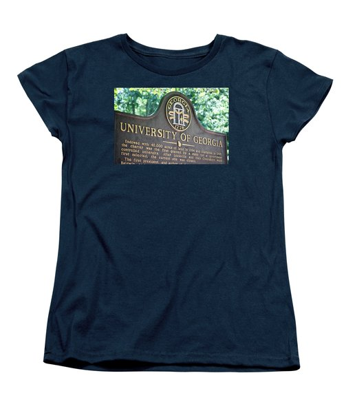 Women's T-Shirt (Standard Cut) featuring the photograph University Of Georgia Sign by Parker Cunningham