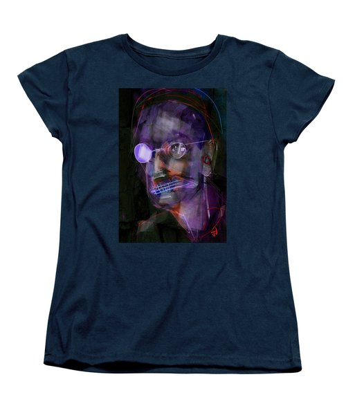Women's T-Shirt (Standard Cut) featuring the painting Untitled - 12dec2016 by Jim Vance