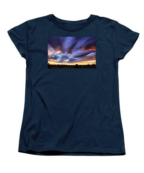 Alien Cloud Formations Women's T-Shirt (Standard Cut) by Lynn Hopwood